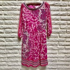 ECI New York Pink Purple floral Dress Nordstrom  4